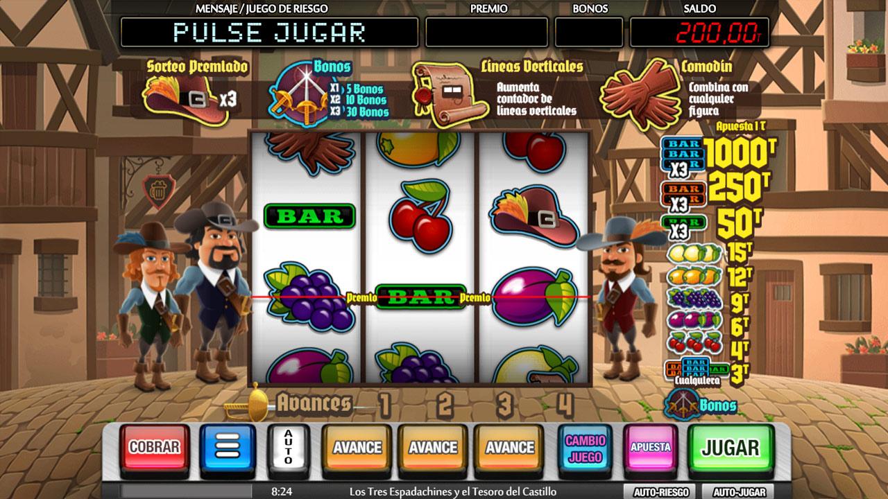 Los Tres Espadachines y el Tesoro del Castillo screenshot